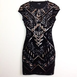 Express Sequin Body Con Dress -N1002